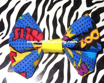 Comic Book Action Words Hair Bow or bow tie