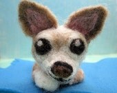 Chihuahua,Needle Felted, Pet, Dog, One of a Kind, El Purro