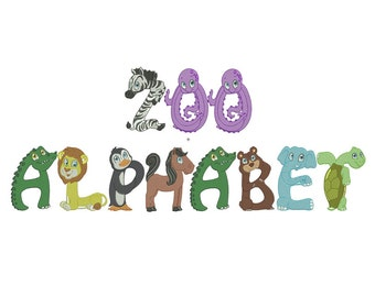 Zoo Alphabet Embroidery Designs