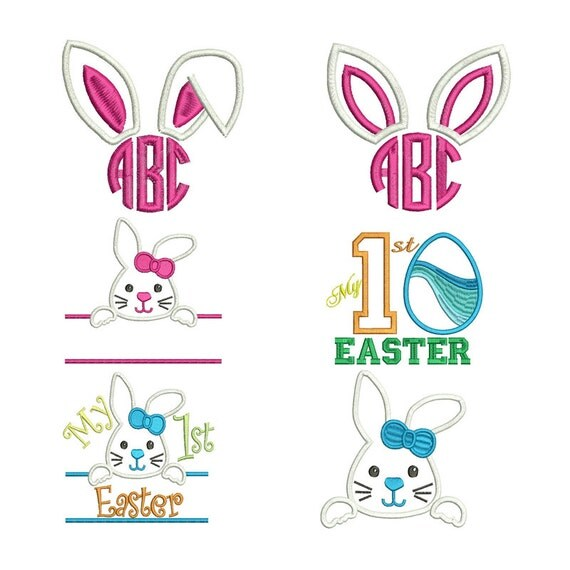 Easter embroidery designs machine monogram applique