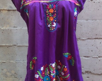 Indigo  Embroidered Dress- SM