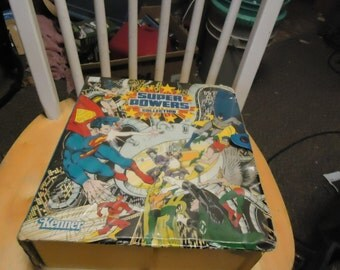 Vintage Super Powers Collections Carrying Case by Kenner, collectable, no figures
