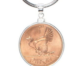 7 Year Wedding Anniversary Gift -Genuine Lucky Copper Irish Penny Pendant - Snakechain and presentation box included - 3 day delivery option