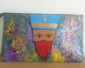 Cleopatra Hand painted clutch bag