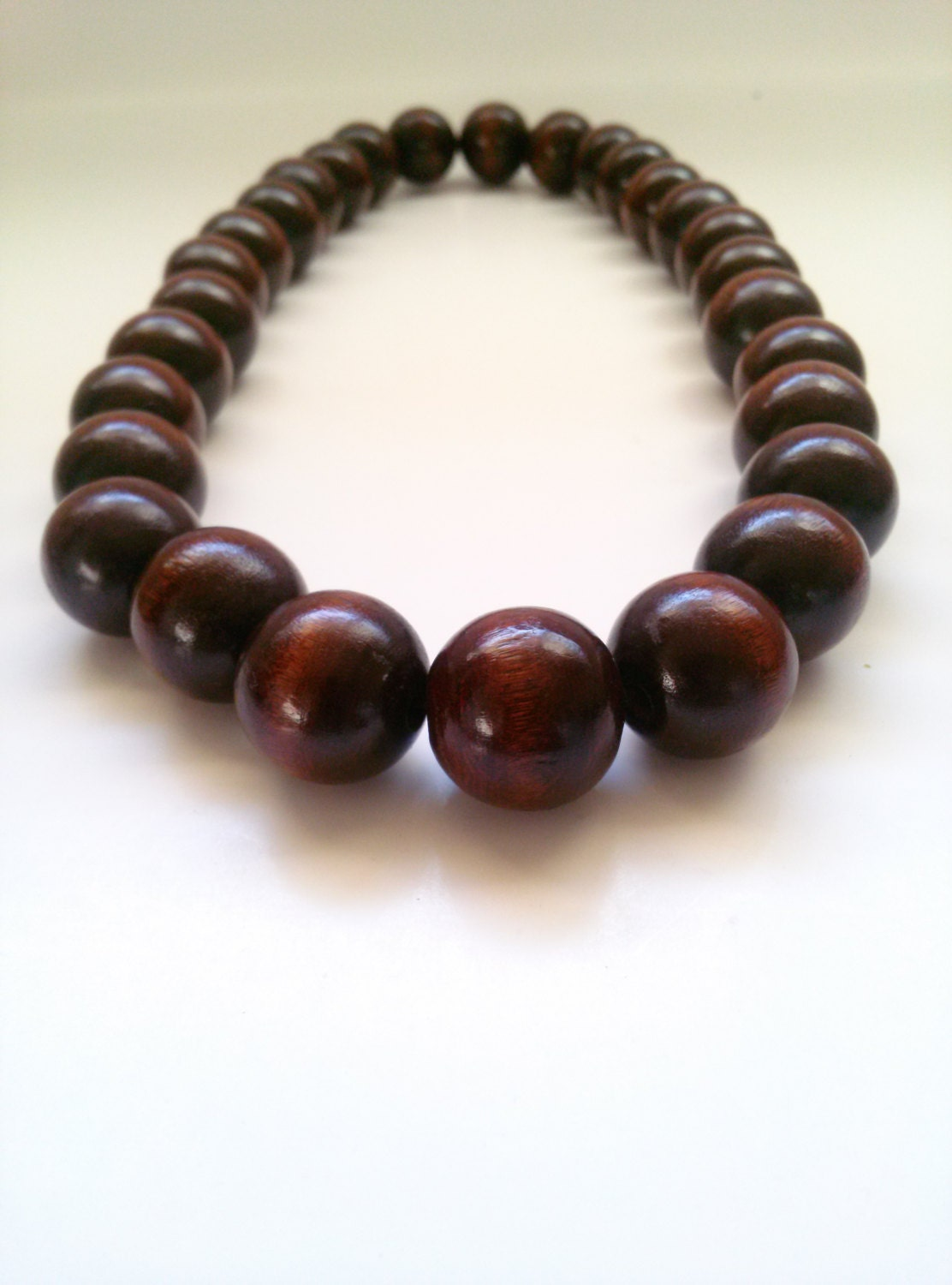 s large wood bead necklace version the by