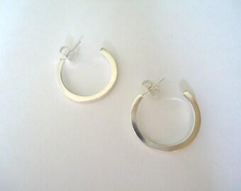 Square Hoop Sterling Silver Earrings