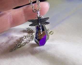 Dragonfly Crystal Jewelry Pendant
