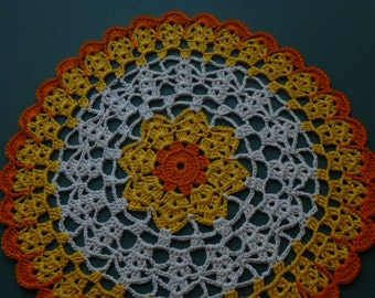 Unique handmade thanksgiving doily crochet lace.no-1