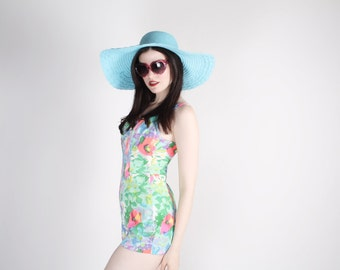 Vintage 1960s Bathing Suit - Vintage Bathing Suit - Floral Bathing Suit - 60s Swim Suits - 2597