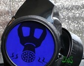 Black Cyber Mask Cyber Goth Respirator Gas Mask  BIOHAZARD