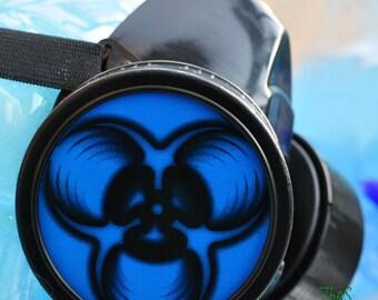 Cyber Mask Cyber Goth Respirator Black  Gas Mask LOVE BIOHAZARD