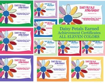 Girl Scout Daisy Petal Award Certificate