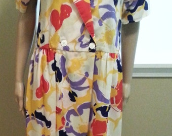 Colorful Printed Silky Maxi Dress