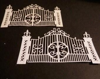 Gate  DIE CUTS, white