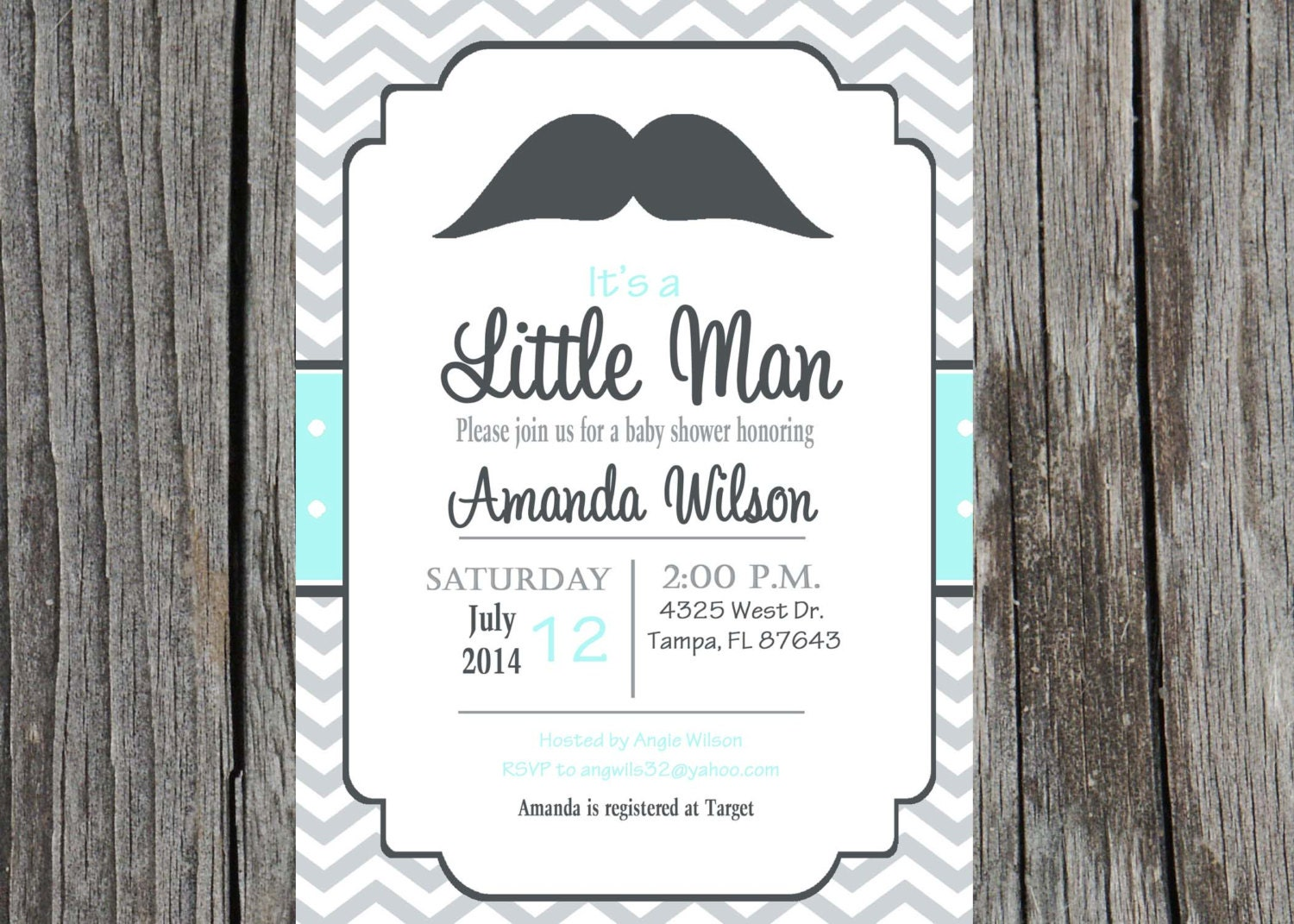 printed little man baby shower invitation baby boy mustache