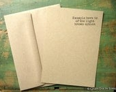 "25 A6 FLAT Cards & Envelopes: rustic invites, 4 5/8x6 1/4"" (117x159mm) or 4x6"" postcard, kraft or light brown, 65lb, 80lb, 100lb or 105lb"