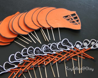 Lacrosse Cupcake Toppers