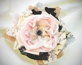 Ready to Ship Le Fleur hair clip headband fascinator hairbow, birthday parties, photos, weddings, brides, girls, ladies