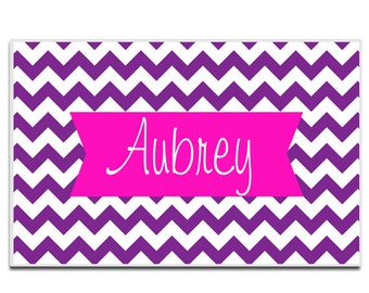 Personalized placemat Reversible Custom  choose colors and text