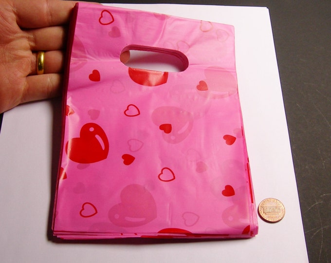 """QTY 100 - Plastic bags- Handle bags - retail bags - wholesale bags - 5""""x 7"""" - LDPD47"""