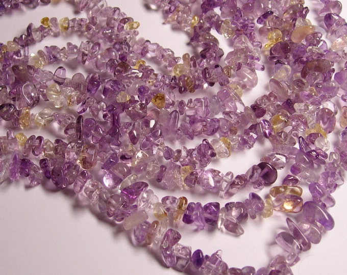 Ametrine  - chip stone beads  -1 full strand - 36 inch - A quality - PSC65