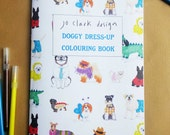 White Coloring Book Dog Dress-Up Activity Book