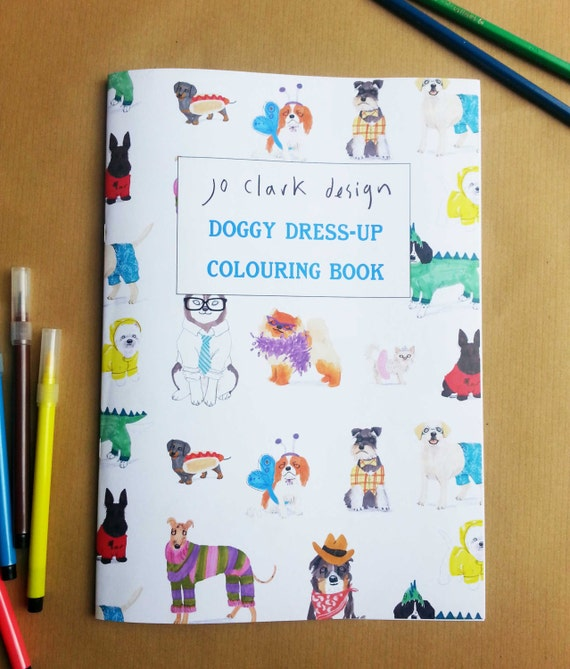 White Coloring Book Dog Dress Up Activity