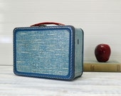 Blue Tweed Metal Lunch Box - The American Thermos Bottle Company