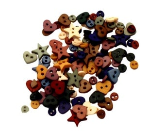 Jesse James Button Country Shapes Tiny Doll Button Embellishments