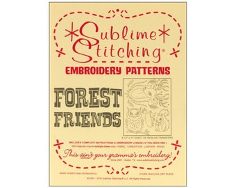 Forest Friends Iron On Transfer Pattern Sublime Stitching Embroidery Crewel Fabric Painting
