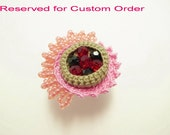 Crochet Jewelry (Style 4) Ring Statement Ring