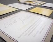 Ivory, Lilac, Yellow & Lavender Wedding Invitations, Baby Shower, Pastel Invitations, Enchanting Vintage - Flat Panel, 2 Layers, v2-DEPOSIT