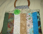 Stylish Handmade Quilted Striped Purse
