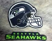 Seattle Seahawks neon iron on applique set