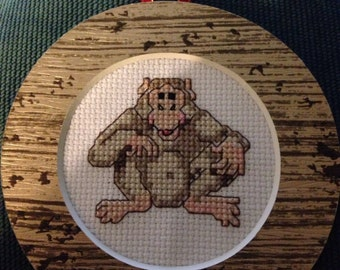 Ape Cross Stitch Ornament