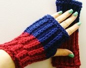 Raseberry Royal Blue Fingerless Gloves