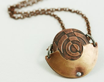 Copper Washer Pendant - Copper Pocket Series
