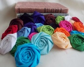 Flowers Wholesale, Fabric Flowers Bulk, Cotton Flowers, Fabric Rosettes, Rolled Flowers, Handmade Flowers, Flowers for crafts