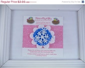 ON SALE Blue Snowflake Hair Clip