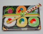 Sushi Baby Gift Set - Neutral Gender - Baby Washcloth Gift - Rainbow Roll
