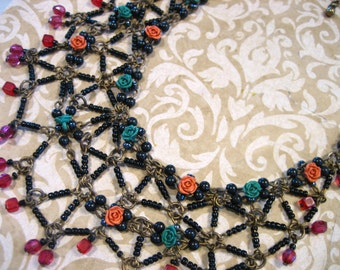 Vintage Bohemian Beaded Necklace