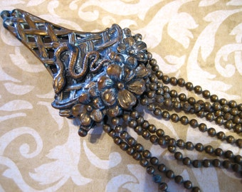 Antique Edwardian Etruscan Pendant with Coiled Snake