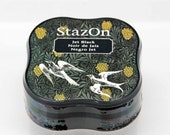 StazOn Solvent Midi Ink Pad in Jet Black -- Tsukineko -- NEW SIZE