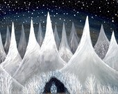 Celestial Print // Fine Art Print // Hidden Beneath a valley of falling stars