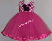 Custom Boutique Clothing  Minnie Mouse Tulle Party Dress  Sassy Girl
