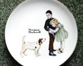 2X-REDUCED, NORMAN ROCKWELL Vintage Collector's Edition Plate with Box,  Big Brother