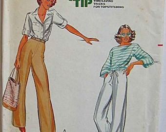 """Misses' Pants, Butterick 5884 Sewing Pattern UNCUT Waist 25"""""""