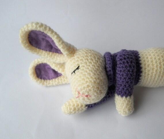 Amigurumi Sleeping Bunny : Amigurumi sleeping baby rabbit nursery room by ...