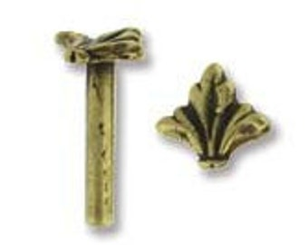 Fleur  Rivet in Antique Brass  Piece- 10 Pieces  8 x 1.5 mm  mm For Leather Work or Use Alone