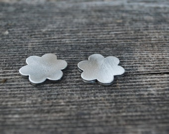 Pewter Stamping Blank-Flower Approx. 7/8  inches long x 7/8 inch wide . Achieve an Organic Look in Your Stamping-You GET 3